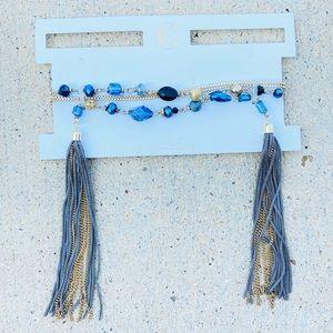 ✨NEW✨Navy Beaded Choker Necklace!